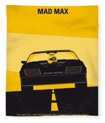 No051 My Mad Max Minimal Movie Poster Fleece Blanket