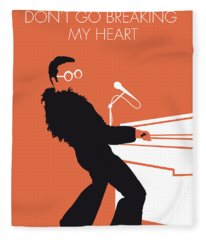 No053 My Elton John Minimal Music Poster Fleece Blanket