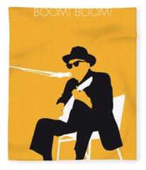 No054 My Johnny Lee Hooker Minimal Music Poster Fleece Blanket