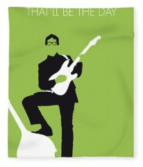 No056 My Buddy Holly Minimal Music Poster Fleece Blanket