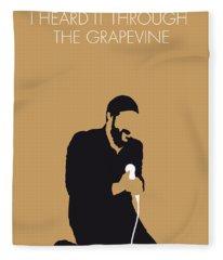 No060 My Marvin Gaye Minimal Music Poster Fleece Blanket