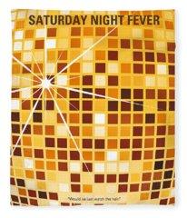 No074 My Saturday Night Fever Minimal Movie Poster Fleece Blanket