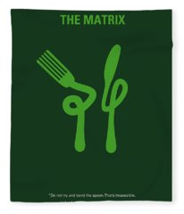 No093 My The Matrix Minimal Movie Poster Fleece Blanket