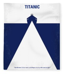 No100 My Titanic Minimal Movie Poster Fleece Blanket