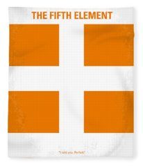 No112 My Fifth Element Minimal Movie Poster Fleece Blanket
