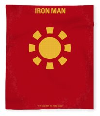 No113 My Iron Man Minimal Movie Poster Fleece Blanket