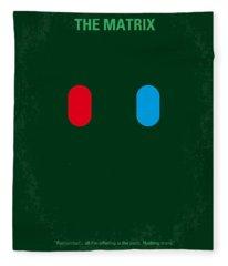 No117 My Matrix Minimal Movie Poster Fleece Blanket