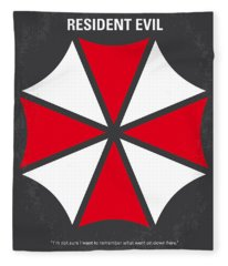 No119 My Resident Evil Minimal Movie Poster Fleece Blanket