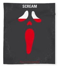 No121 My Scream Minimal Movie Poster Fleece Blanket