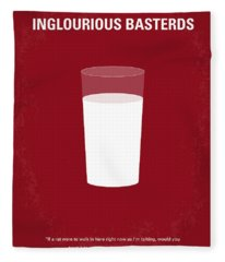 No138 My Inglourious Basterds Minimal Movie Poster Fleece Blanket