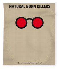 No139 My Natural Born Killers Minimal Movie Poster Fleece Blanket
