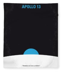 No151 My Apollo 13 Minimal Movie Poster Fleece Blanket