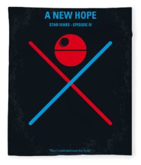 No154 My Star Wars Episode Iv A New Hope Minimal Movie Poster Fleece Blanket
