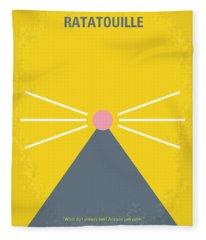 No163 My Ratatouille Minimal Movie Poster  Fleece Blanket