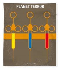 No165 My Planet Terror Minimal Movie Poster Fleece Blanket