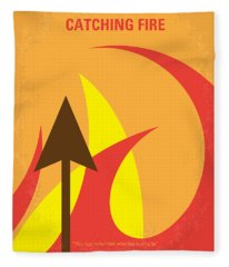 No175-2 My Catching Fire - The Hunger Games Minimal Movie Poster Fleece Blanket