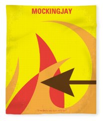 No175-3 My Mockingjay - The Hunger Games Minimal Movie Poster Fleece Blanket
