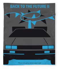 No183 My Back To The Future Minimal Movie Poster-part II Fleece Blanket