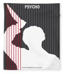 No185 My Psycho Minimal Movie Poster Fleece Blanket