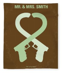 No187 My Mr And Mrs. Smith Minimal Movie Poster Fleece Blanket