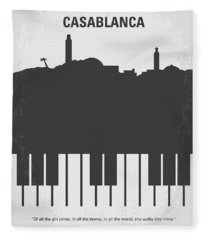 No192 My Casablanca Minimal Movie Poster Fleece Blanket