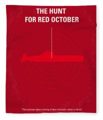 No198 My The Hunt For Red October Minimal Movie Poster Fleece Blanket