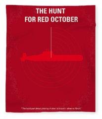 Red Poster Fleece Blankets
