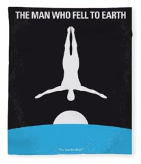 No208 My The Man Who Fell To Earth Minimal Movie Poster Fleece Blanket