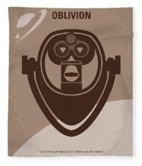 No217 My Oblivion Minimal Movie Poster Fleece Blanket