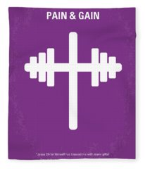 No221 My Pain And Gain Minimal Movie Poster Fleece Blanket