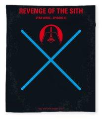 No225 My Star Wars Episode IIi Revenge Of The Sith Minimal Movie Poster Fleece Blanket