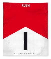 No228 My Rush Minimal Movie Poster Fleece Blanket