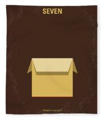 No233 My Seven Minimal Movie Poster Fleece Blanket