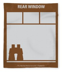No238 My Rear Window Minimal Movie Poster Fleece Blanket