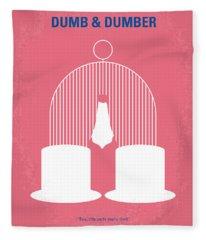 No241 My Dumb And Dumber Minimal Movie Poster Fleece Blanket