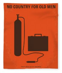 No253 My No Country For Old Men Minimal Movie Poster Fleece Blanket