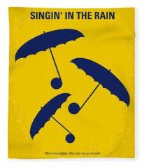 No254 My Singin In The Rain Minimal Movie Poster Fleece Blanket