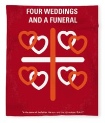 No259 My Four Weddings And A Funeral Minimal Movie Poster Fleece Blanket