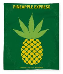 No264 My Pineapple Express Minimal Movie Poster Fleece Blanket