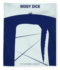 No267 My Moby Dick Minimal Movie Poster Fleece Blanket
