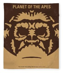 No270 My Planet Of The Apes Minimal Movie Poster Fleece Blanket