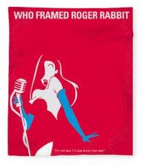 No271 My Roger Rabbit Minimal Movie Poster Fleece Blanket