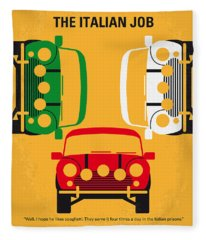 No279 My The Italian Job Minimal Movie Poster Fleece Blanket