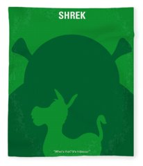 No280 My Shrek Minimal Movie Poster Fleece Blanket
