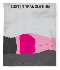 No287 My Lost In Translation Minimal Movie Poster Fleece Blanket