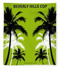 No294 My Beverly Hills Cop Minimal Movie Poster Fleece Blanket