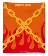 No296 My Ghost Rider Minimal Movie Poster Fleece Blanket