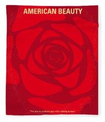 No313 My American Beauty Minimal Movie Poster Fleece Blanket