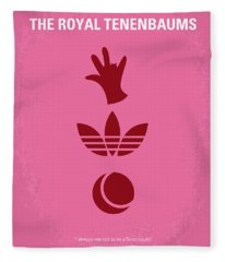 No320 My The Royal Tenenbaums Minimal Movie Poster Fleece Blanket