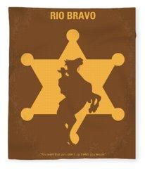 No322 My Rio Bravo Minimal Movie Poster Fleece Blanket